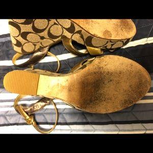 5.5B coach wedge shoe